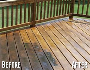 Patio Cleaning Before and After Cleaning